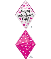 "25"" Happy Valentine&#39s Day Gem Balloon Anglez"