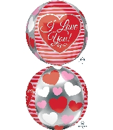 "16"" Love Stripes Balloon Orbz"