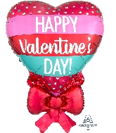 "29"" Happy Valentine's Day Tiny Hearts & Bow Balloon"
