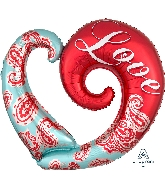 "32"" Paisley Love Balloon"