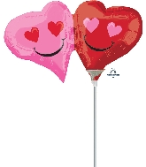 Airfill Only Mini Shape Emoticon Hearts Balloon