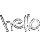 "33"" Airfill Only Freestyle Phrase ""Hello"" Silver Balloon"