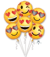 Bouquet Emoticon Love Balloon