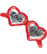 "39"" Heart Shaped Glasses Balloon"