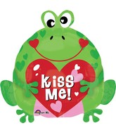 "18"" Kiss Me Heart Frog Balloon"