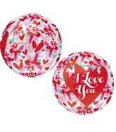 "16"" I Love You Flowers Balloon"