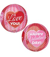 "16"" Pink & Red Happy Valentine's Day Balloon"