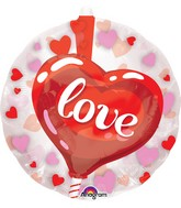 "24"" Heart Lollipop Balloon Insider"