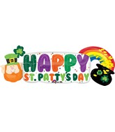 "42"" St. Pat''s Pot of Gold Banner Balloon"