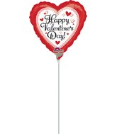"4"" Airfill Only Happy Valentine's Day Simply Traditional"