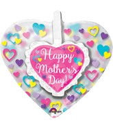 "26"" Insider Happy Mother's Day Ruffle Heart Balloon"