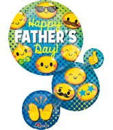 "28"" Jumbo SuperShape Happy Father's Day Emoticon"