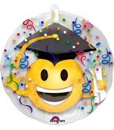 "24"" Insider Grad Emoticon Balloon"