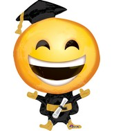 "35"" Jumbo SuperShape Happy Grad Emoticon"