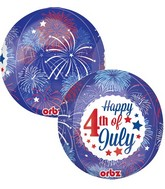 "16"" Orbz 4th of July Fireworks Balloon"