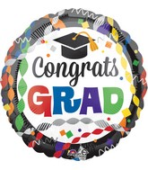 "28"" Jumbo Congrats Grad Party Balloon"