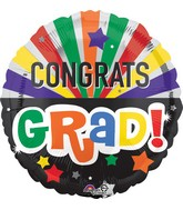 "28"" Jumbo Congrats Grad Celebration Balloon"