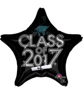 "18"" Class of 2017 - Black Balloon"