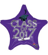 "18"" Class of 2017 - Purple Balloon"