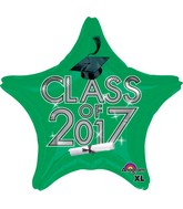 "18"" Class of 2017 - Green Balloon"