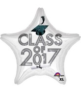 "18"" Class of 2017 - White Balloon"