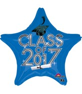 "18"" Class of 2017 - Blue Balloon"