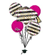 Bouquet Gold Confetti Grad Balloon