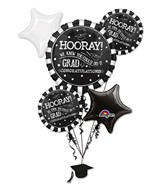 Bouquet Hooray Grad Balloon