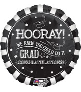"28"" Jumbo Hooray Grad Balloon"