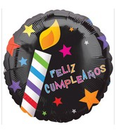 "18"" Feliz Cumplea�os Candles Balloon"