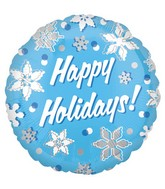 18&#39&#39 Happy Holidays Snowflakes Balloon