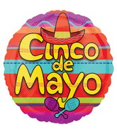 "18"" Cinco de Mayo Celebration Balloon"