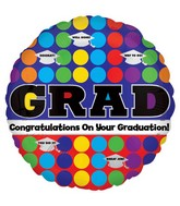 "18"" Graduation Dots Balloons"