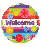 "18"" Welcome Bright Bursts Balloon"