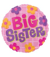 "18"" Big Sister Flowers Balloon"