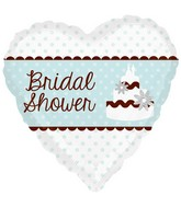 "18"" Blue Dot Bridal Shower"