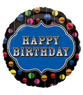 "18"" Happy Birthday Bright Dot Marquee Balloon"