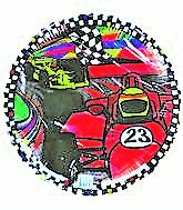 "18"" Formula 1 Racer Checkered Border (Slight Damaged Print)"