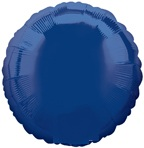 "18"" Navy Blue Circle Balloon"