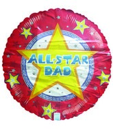 18&#39&#39 All Star Dad Balloon
