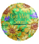"18"" Sunflowers Get Well Balloon"