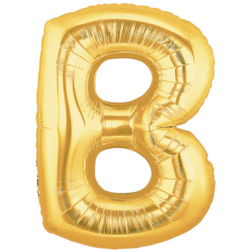 "40"" Large Letter Balloon B Gold"