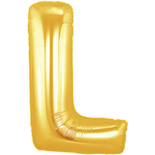 "40"" Large Letter Balloon L Gold"