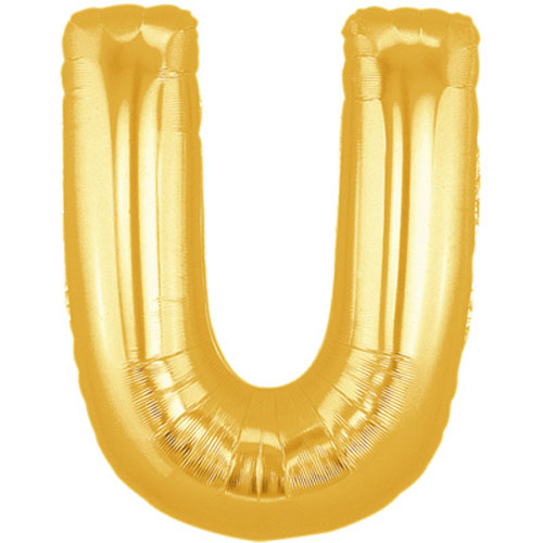 "40"" Large Letter Balloon U Gold"