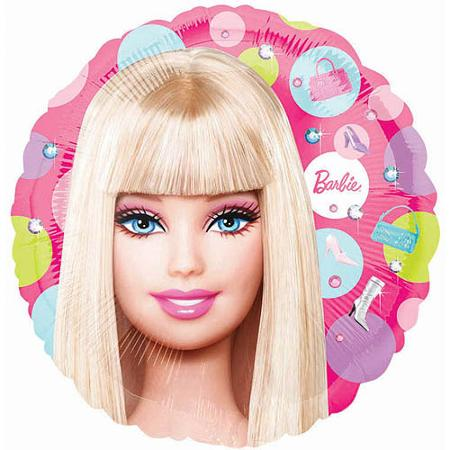 "9"" Mini Balloon (Airfill Only) Barbie Pattern"