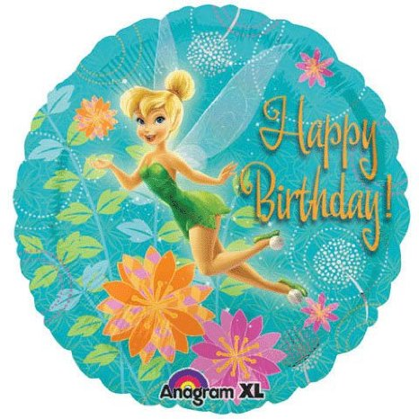 "9"" Mini Balloon (Airfill Only) Tinkerbell Birthday"