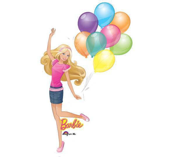 (Airfill Only) Barbie Balloon Foil Shape