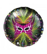 "18"" Foil Balloon Carnaval Mask"