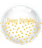 "18"" Happy Birthday Dots"
