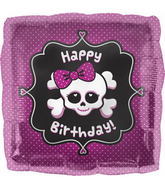 "18"" Happy Birthday Girly Skull"